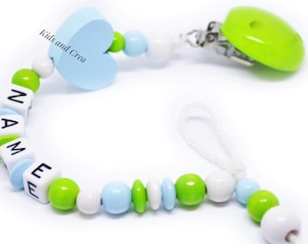 Dummy pacifier chain with name of your choice