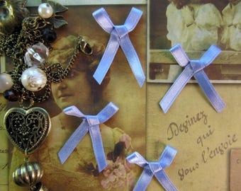 pale blue satin bow retro vintage scrapbooking