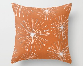 Orange Pillow cover Beachy Pillow Cover Decorative Pillow Cover Sparks Pillow Ocean Pillow Sailing Pillow Lakehouse Pillow