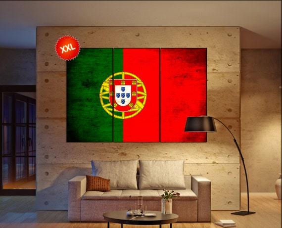 Portugal flag canvas wall art art print large  canvas wall art print Portugal flag country flag Wall Home office decor interior Office Decor