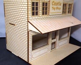 1/24 Scale PROTOTYPE Toy Shop Laser Cut Custom Built