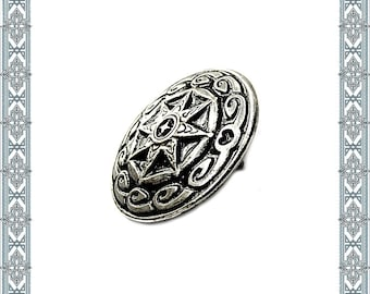 6 Conchos BERLINGR silver plated Concho Rivet Pin