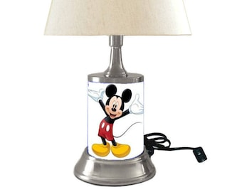 Vintage disney mickey mouse lamp light enchanting walt mickey mouse lamp with shade aloadofball Gallery