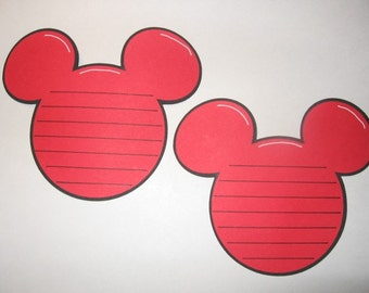 Set of 4 Mickey Head Journaling Tags