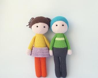 Amigurumi Boy Doll Pattern : Pdf crochet doll aria crochet doll crochet pattern doll