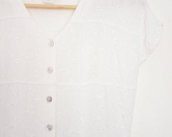 vintage 90s white maxi dress