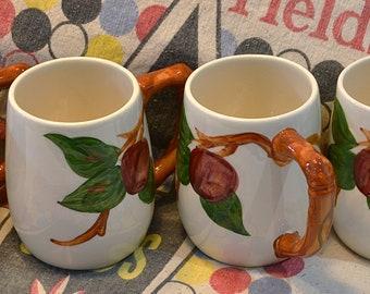 Franciscan Apple Grand Mugs, Franciscan Mugs, Franciscan Apple Coffee/Hot Chocolate Mugs