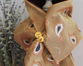 Handmade Silk Scarf / Silk Neck Warmer
