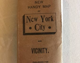 Vintage Rand McNally & Co.'s New Handy Map of New York City -1909