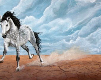 Wild Mustang Art Print of Energy