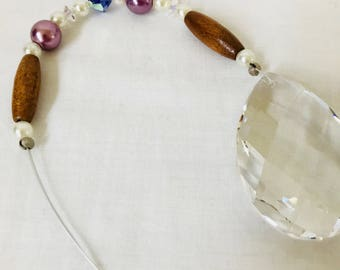 Crystal Suncatcher, Crystals made with Swarovski, Pear Prism, Sun Catchers for Windows, Window Hanging, Dancing Prisms, Rainbows