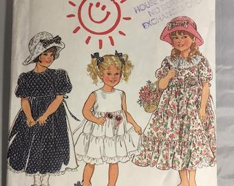 6211 New Look Flower Girl Dress Pattern Sizes 3-8