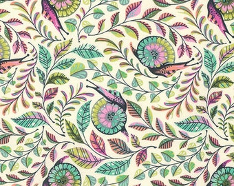 Pit Crew  in Strawberry Kiwi  PWTP085 - Tula Pink  SLOW and STEADY - Free Spirit Fabric - By the Yard