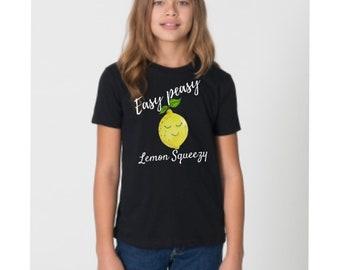 Summer shirt kids, summer t shirt kids, funny birthday shirt kids, funny summer shirts, Lemon shirt, lemon gifts, easy peasy lemon squeezy