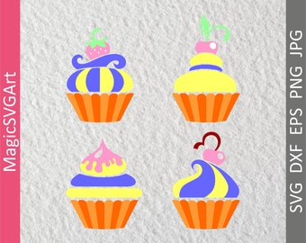 Cupcake SVG,Cupcake Svg Cutting Files,cupcake vector,Cupcake svg cutting files,Sweet Cupcake SVG,Cupcake svg for cricut,Dessert Cup cake svg