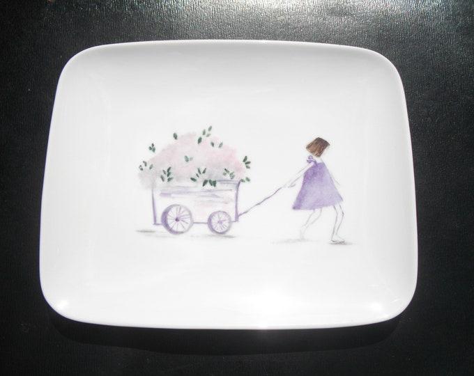 porcelain/hand painted dessert plate