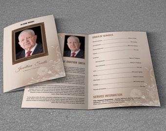 printable funeral program template memorial program template ms word and photoshop template instant download t 246