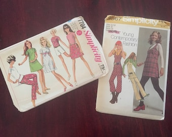 Juniors Sewing Patterns, 60s Teen DIY Vintage Sewing Pattern 12, 13, 14 Simplicity Pattern, 1960s 1979s Sewing project vintage teen clothes