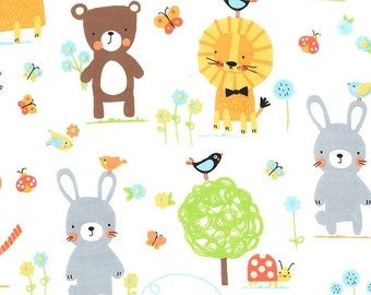Michael Miller Fabrics - Flannel - Nature Babies