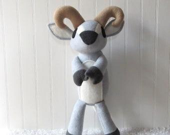 Little Alpine Goat Plush, Toy Goat, Barnyard Toy