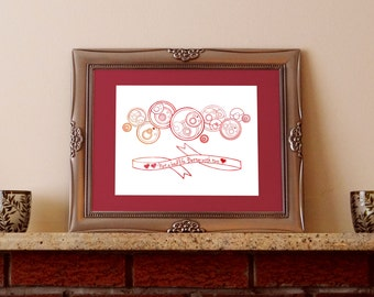 Better With Two featuring Doctor's Cot Gallifreyan - Instant Download, Printable, 8x10 Art Print