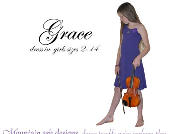 Grace Dress pdf sewing pattern knit dress off the shoulder