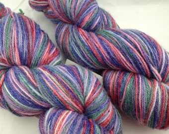 "Superwash Merino/Bamboo/Nylon Hand Dyed Sock Yarn-Hearthside Fibers BaaBoo-""Rhapsody"""