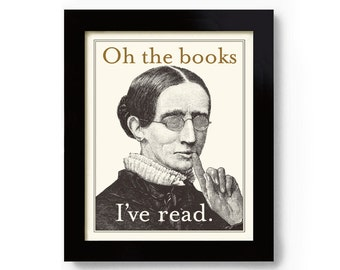 Book Lover Gift Idea, Literary Gift, Reads Books, Reading Gift, Librarian Gift, Literary Quote, Bookworm, So Many Books So Little Time