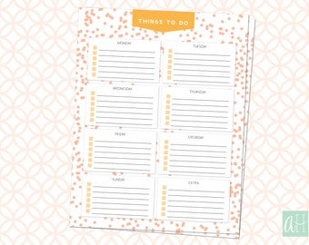 Printable Weekly To Do List: Instant Download