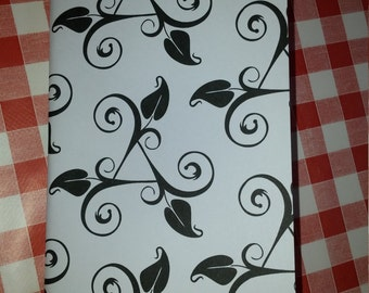 Patterned Card refill / insert for Midori, travelers notebook, fauxdori