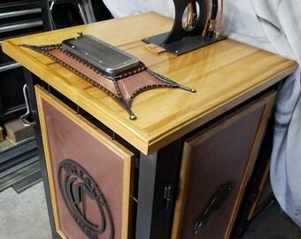 Custom steampunk kegerator