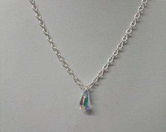 Swarovski Drop Crystal on silver 925 chain