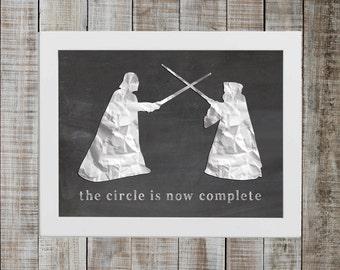Darth Vader & Obi Wan Kenobi - 'the circle is now complete'