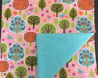 Pink Tree Garden 100% Cotton Weighted Blanket MTO