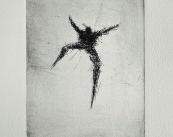 "Original Etching ""leap"""