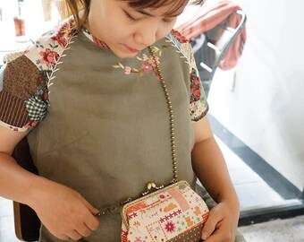 Cotton Linen Mini Frame Bag