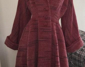 Classic 60s vintage Lilli Ann princess coat rose pink XS