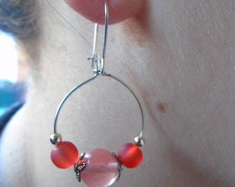 Beaded beads earrings