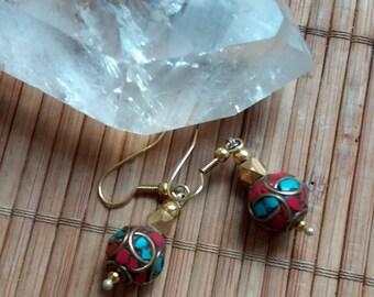 Tribal bead earrings