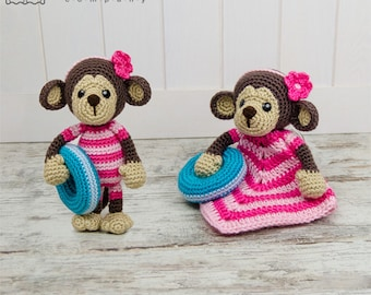 Combo Pack - Lily the Baby Monkey Lovey and Amigurumi Set for 7.99 Dollars - PDF Crochet Pattern - Instant Download - Special Offer Pack