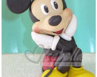 Mickey mouse cake topper cold porcelain / centro de torta