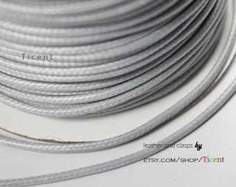 Sale 14 Yards 2mm Light Gray Wax Cords, Environmental Protection Wax Cords WS223