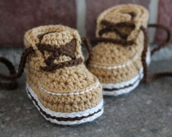 """Crochet Pattern PDF Baby Boys Boots """"Forrester Boot"""" Crochet Bootie Pattern cute modern cool.  Infant, Crawler, Toddler PATTERN ONLY"""