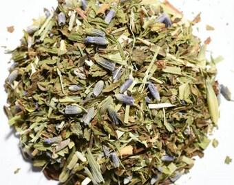COMPOSURE | Artisan Herbal Tea Blend | Organic | Loose Leaf and Tea Bags | Tea Tin | Iced Tea | Eco-Friendly