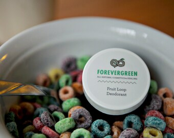 Aluminum Free Deodorant, Natural Deodorant, Vegan Deodorant, Fruit Loop, Organic Deodorant, Homemade Deodorant, Deodorant Cream