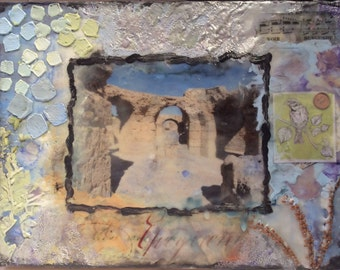 Memories of Carthage II ~ Encaustic Mixed Media