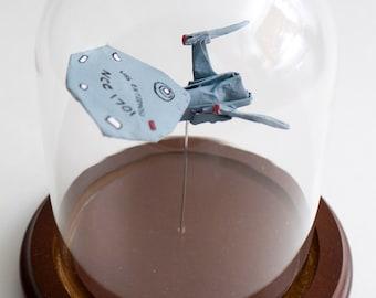 Origami starship Enterprise NCC-1701 small decorative globe