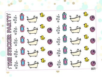 Bubble Bath Planner Stickers