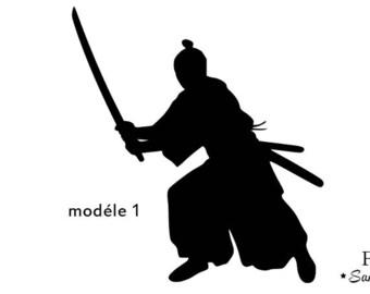 samurai warrior fusible applique Japan