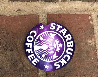 Custom Starbucks Purple SandStone Car Coasters (set of 2), Car Coaster, Bad GirlsCar Coaster, Gift Ideas (set of 2)